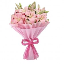 Perfect Pink Lilies