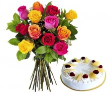 Mix Roses with Pineapple Cake (Half kg)