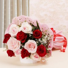 Red N Pink Roses Bouquet
