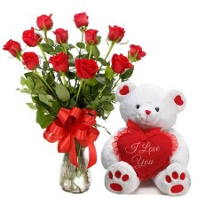 Lovely Roses N Teddy