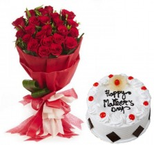 Mother\'s Day Special Roses N Cake