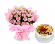 Mom\'s Love Carnations N Cakes