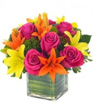 Mix Lilies N Roses In A Vase