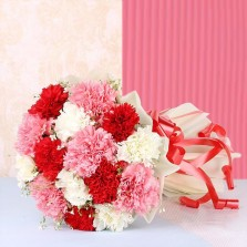 Red, White N Pink Carnations
