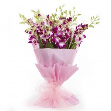 Pink N Purple Orchids Bouquet