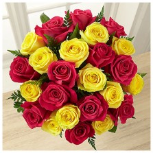 Yellow N Pink Roses