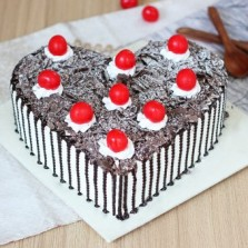 Melting Heart Black Forest Cake