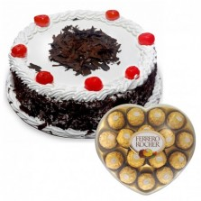 Black Forest Cake N Ferrero Rocher Chocolates