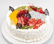Fresh Exotic Fruit  Cake