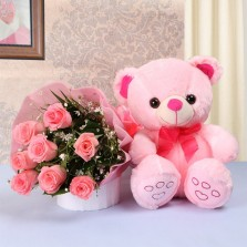 Pink Surprise With Pink Teddy