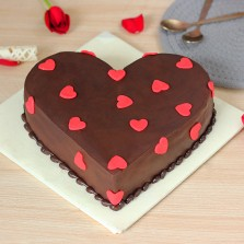 Hearty Heart Chocolate Cake