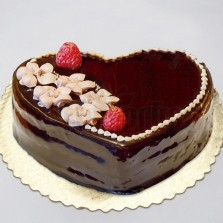 Chocolate Cream Heart Cake