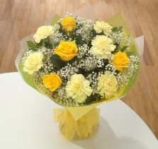 All Yellow Roses N Carnations