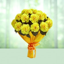 Sunny Carnations Bouquet