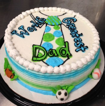 Greatest Dad Strawberry Cake