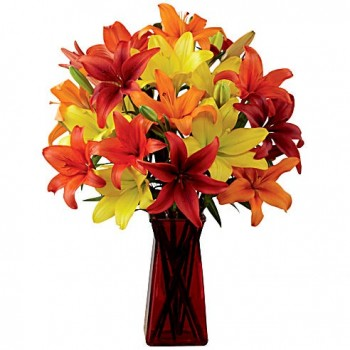 Bright Lilies In A Vase