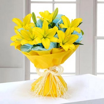 Magical Yellow Lilies